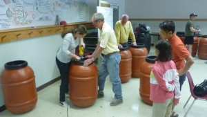 Rain barrel building workshop in South Burlington hosted by the Chittenden County Stream Team