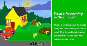 Stormville is an interactive plugin developed by the Regional Stormwater Education Program to educate residents on stormwater best practices for their home.